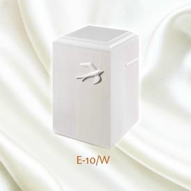 Uurna E-10/W, koivu, valkoinen